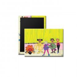 """Little Dancers"" Magnet, art by Aileen Ishmael"