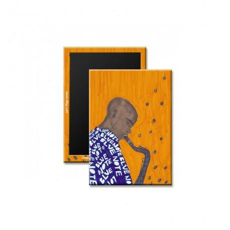 """""""Blue Note"""" Magnet, art by Aileen Ishmael"""