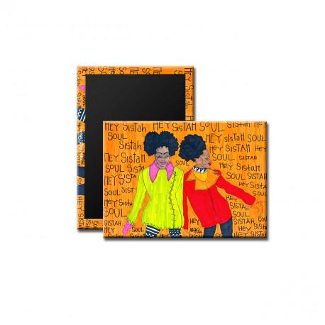 """Hey Sister, Soul Sister"" Magnet, art by Aileen Ishmael"