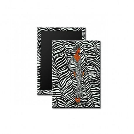 """Zebra Inspired"" Magnet, art by Dexter Griffin"
