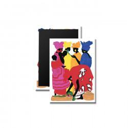 """African Market Place"" Magnet, art by Edwin Harris"