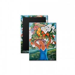 """The Flower Seller"" Magnet, art by Gerald Decilien"