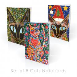 Cat-themed Boxed Note Cards