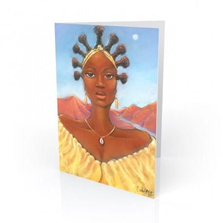 """Oshun"" Greeting Card, artwork by Carlos Spivey"