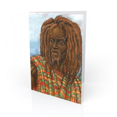 """""""One with Jah"""" Greeting Card, artwork by Carlos Spivey"""