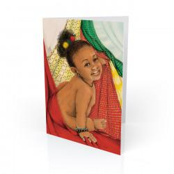 """Baby Love 2"" Greeting Card, artwork by Carlotta Swain-Ward"