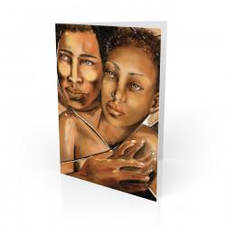 """Embrace"" Fathers Greeting Card, artwork by Carlotta Swain-Ward"