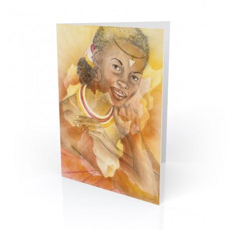 """Warmth of Africa"" Greeting Card, artwork by Carlotta Swain-Ward"