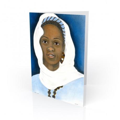 """""""Ivory Scarf"""" Greeting Card, artwork by Carlotta Swain-Ward"""