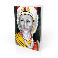 """Ancient Glory"" Greeting Card, artwork by Carlotta Swain-Ward"
