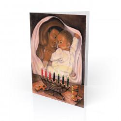 """First Kwanzaa"" Greeting Card, artwork by Carlotta Swain-Ward"