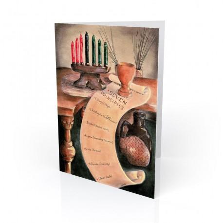"""The Seven Principles"" Greeting Card, artwork by Carlotta Swain-Ward"