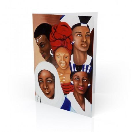 """Woman of Nations"" Greeting Card, artwork by Carlotta Swain-Ward"