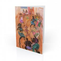 """The Dance Collective"" Greeting Card, artwork by Carlos Spivey"