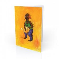 """Young Famadu"" Greeting Card, artwork by Carlos Spivey"