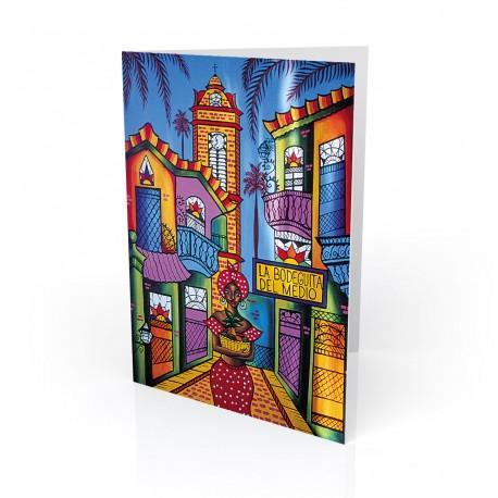 """La Bodeguita"" Greeting Card, artwork by Gladys Castañeda"