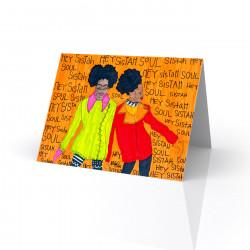 """Hey Sister, Soul Sister"" Greeting Card, artwork by Aileen Ishmael"