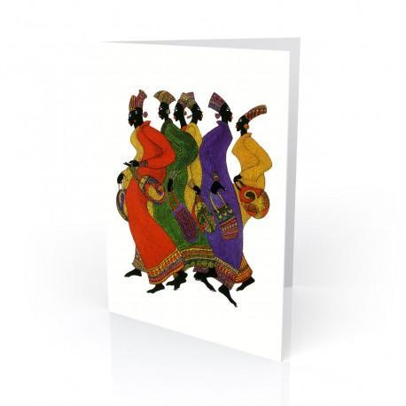 """Ebony Footprints"" Greeting Card, artwork by Charles Bibbs"