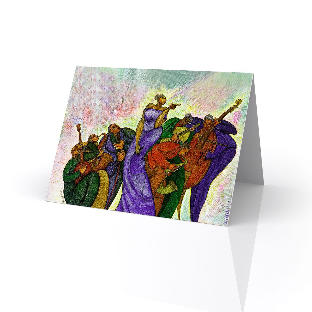 Lady with a song greeting card artwork by charles bibbs lady with a song greeting card artwork by charles bibbs m4hsunfo