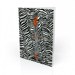 """Zebra Inspired"" Greeting Card, artwork by Dexter Griffin"