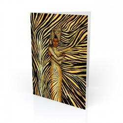 """Tiger Rap"" Greeting Card, artwork by Dexter Griffin"