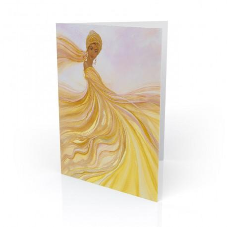 """Golden Dancer"" Greeting Card, artwork by Dexter Griffin"