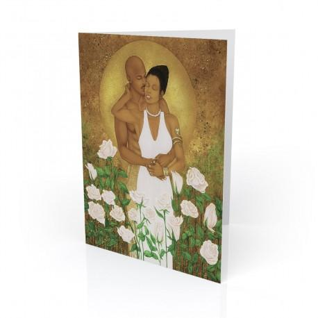 """Rose Garden"" Greeting Card, artwork by Dexter Griffin"