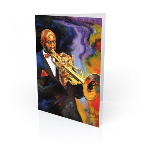 """""""Cool Jazz"""" Greeting Card, artwork by George Bernard III"""