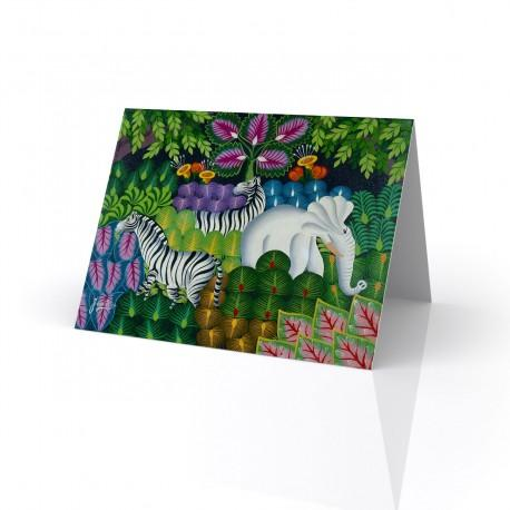 """Jungle Scene"" Greeting Card, artwork by Joel Gauthier"
