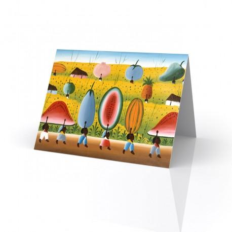 """Visions of Plenty"" Greeting Card, artwork by Fritzner Alfonse"