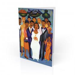 """Garden Wedding"" Greeting Card, artwork by Fritzner Alfonse"