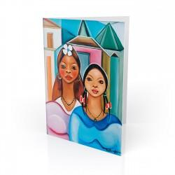 """The Sisters"" Greeting Card, artwork by Fritzner Alfonse"