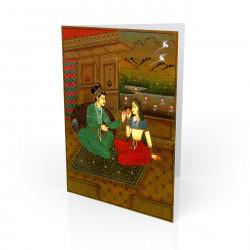 """Love at Dusk"" Greeting Card - India"