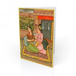 """Lovers On A Terrace"" Greeting Card - India"
