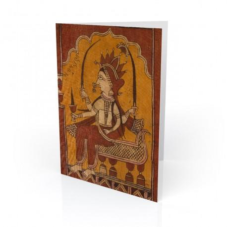 """Unknown"" Greeting Card, with Indian Textiles artwork"