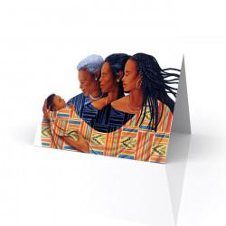 """Generations-Circle of Love"" Greeting Card, artwork by Keith Mallett"
