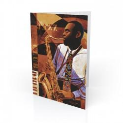 """Jazz Club"" Greeting Card, artwork by Keith Mallett"