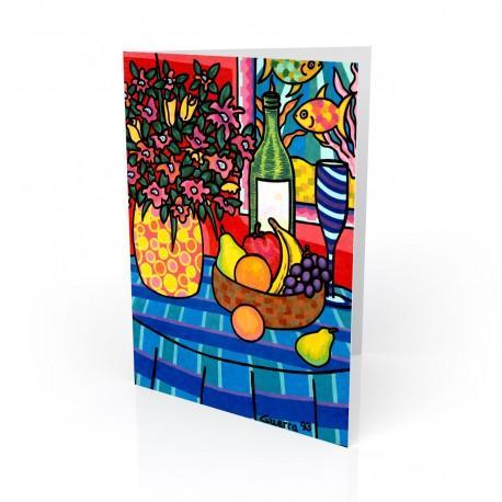 """Still Life"" Greeting Card, artwork by Hector Guerra"