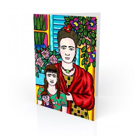 """Mother & Daughter"" Greeting Card, artwork by Hector Guerra"