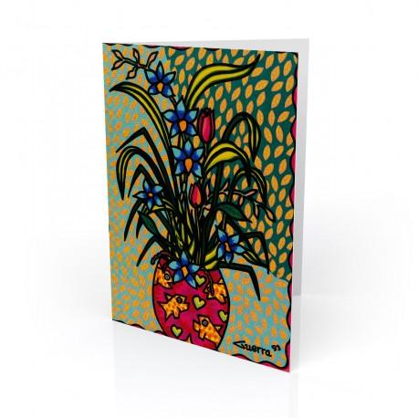 """Floral No. 1"" Greeting Card, artwork by Hector Guerra"