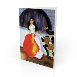 """Passion de Flamenco"" Greeting Card, artwork by Georgi"