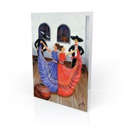 """Dia de Fiesta"" Greeting Card, artwork by Georgi"