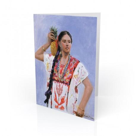 """Linda Morena"" Greeting Card, artwork by Israel Martinez"