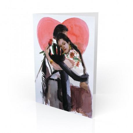 """Amor Verdadero - True Love"" Greeting Card, artwork by Israel Martinez"