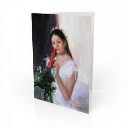 """Quinceañera - when the girl turns 15"" Greeting Card, artwork by Israel Martinez"
