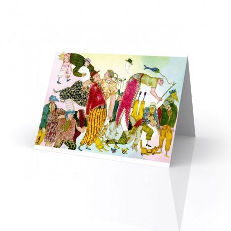 """La Comparsa"" Greeting Card, artwork by Leovigildo Martinez"