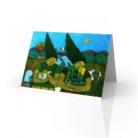 """""""Una Tarde en Juchitan"""" Greeting Card, artwork by Fernando Olivera"""