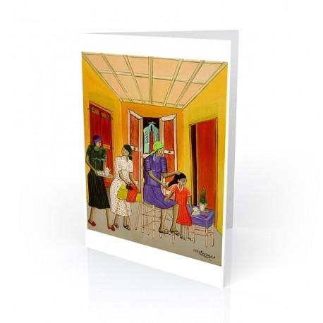 """Untitled (Haitian Home)"" Greeting Card, artwork by Pierre-Joseph Valcin"