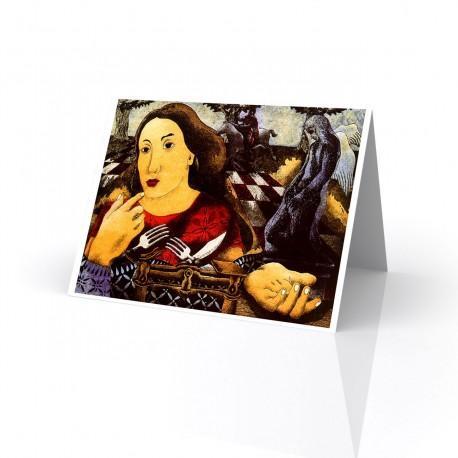 """""""El Parque de Xavier"""" Greeting Card, artwork by Jose Eddie Martinez"""