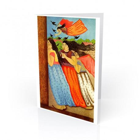 """Las Mujeres de Juchitan"" Greeting Card, artwork by Fernando Olivera-Oaxaca Mexico"